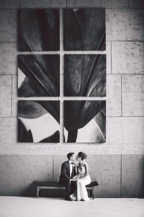 wedding couple at the cove atlantis