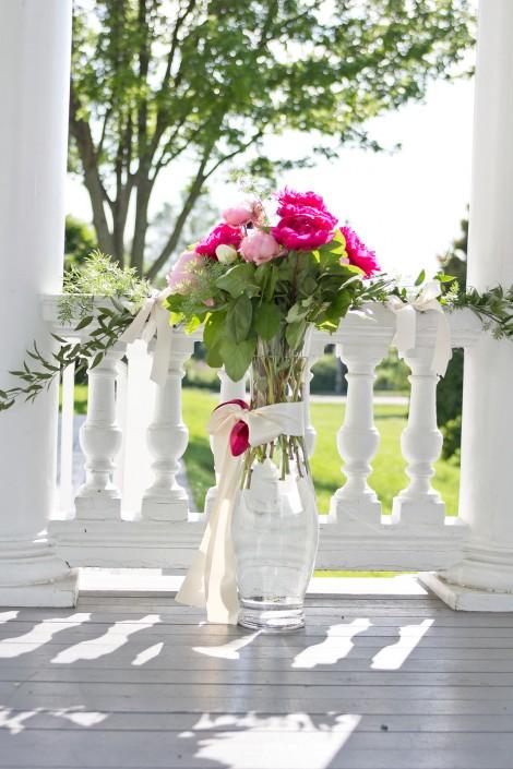 floral wedding bouquet at the Endicott Estate in massachusetts
