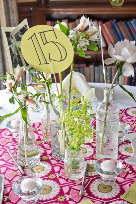 table settings and decoration at a wedding at the endicott estate in the boston area