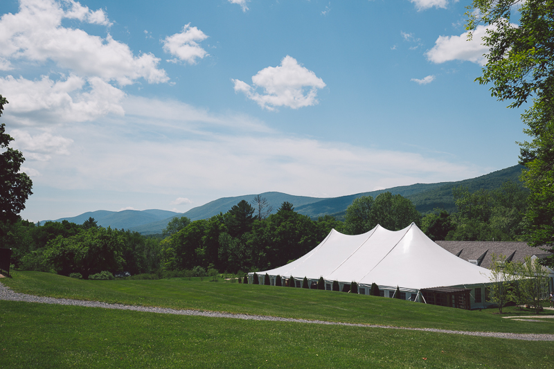 tent for a wedding