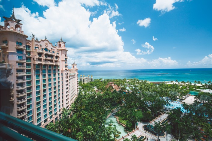 View from balcony of Atlantis Royal Tower East