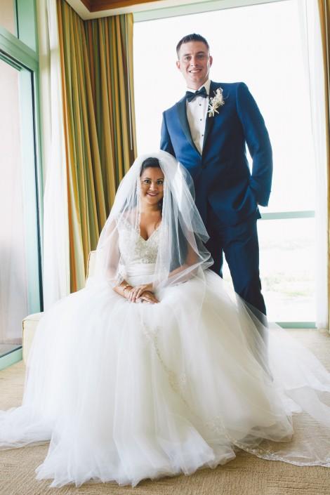 bride and groom portrait taken at a bahamas destination wedding by erik kruthoff photography