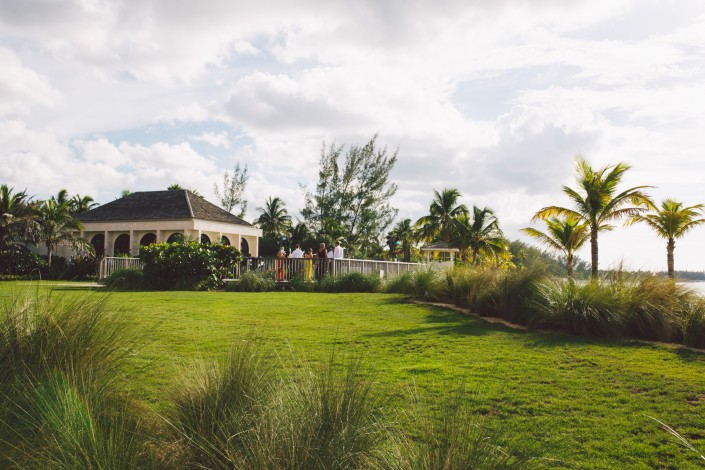 reception venue at the beach at Atlantis resort wedding on paradise island by Erik Kruthoff Photography