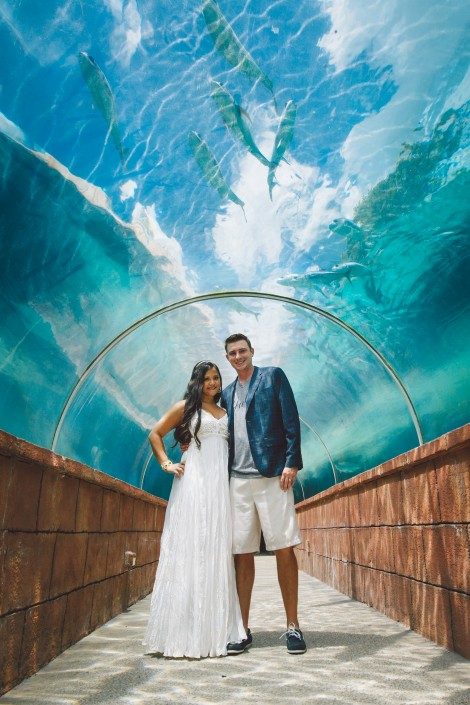 bridal portratit taken at Atlantis Bahamas wedding photographer