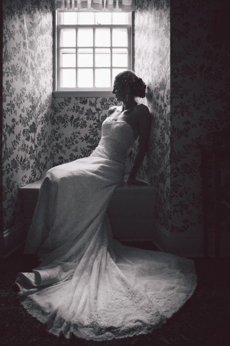 bridal portrait in a private residence