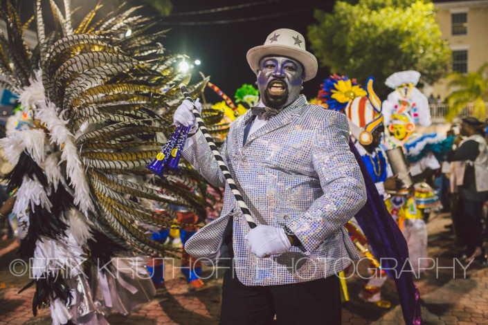 male dancer in the 2016 new years junkanoo parade in the bahamas
