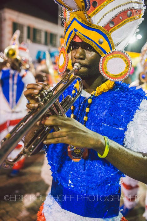 photography of a trumpet player in the 2016 new years day saxons junkanoo parade bahamas