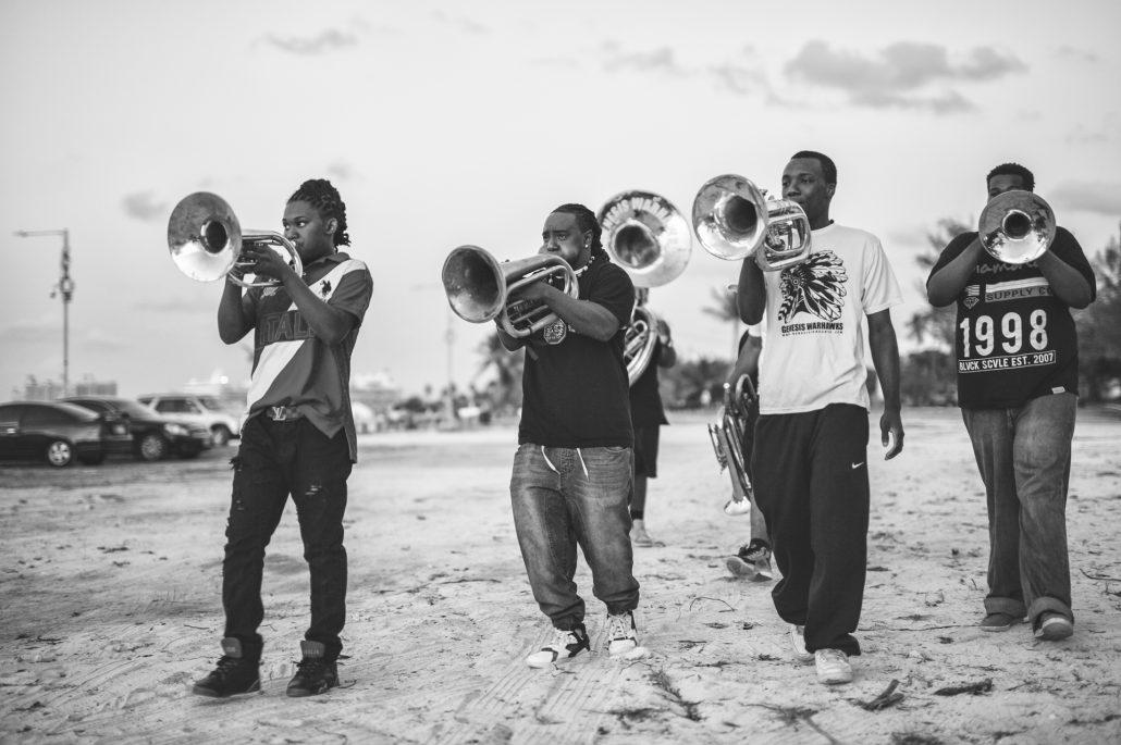 Junkanoo band practice in theBahamas