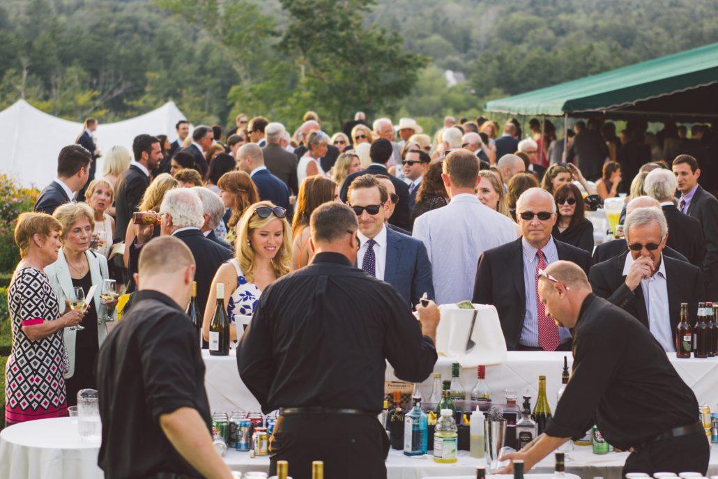 bar set up at a hildene wedding in new england