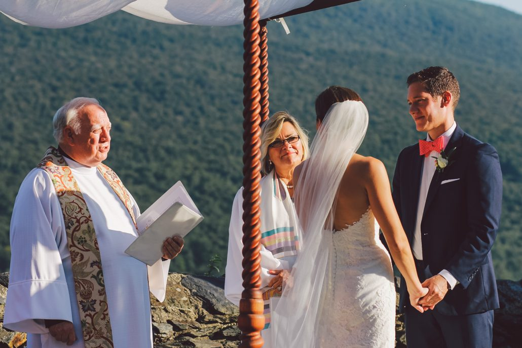 Outdoor wedding ceremony at Hildene