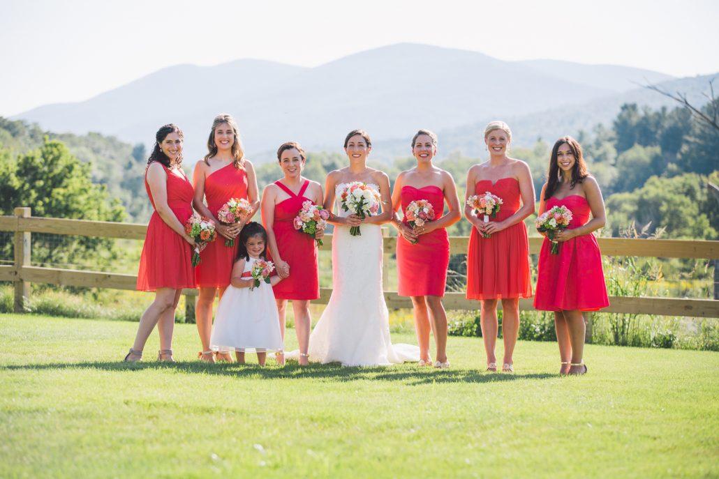 new england outdoor wedding in vermont
