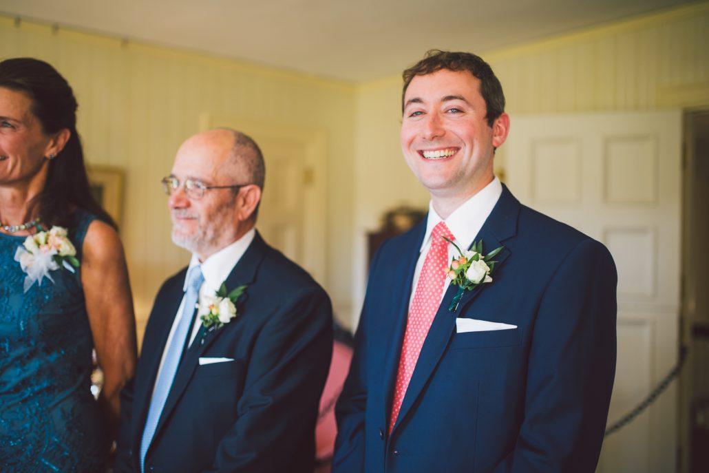 smiling groomsmen at Hildene wedding