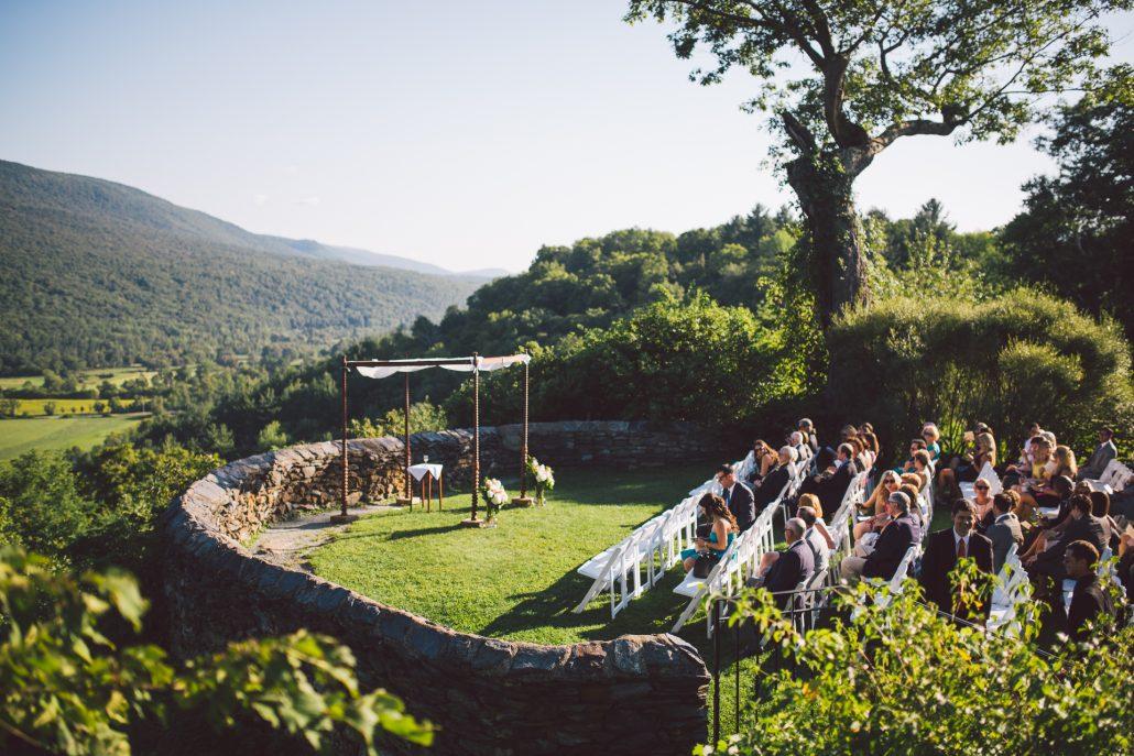outdoor wedding ceremony site at hildene