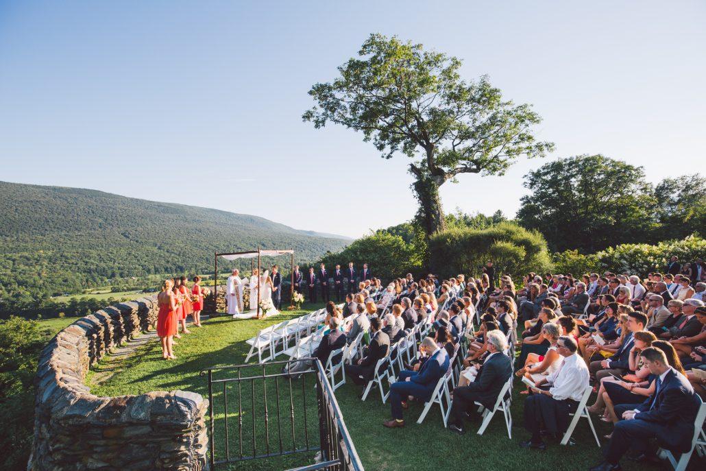 photograph of an outdoor garden wedding at Hildene in manchester vt