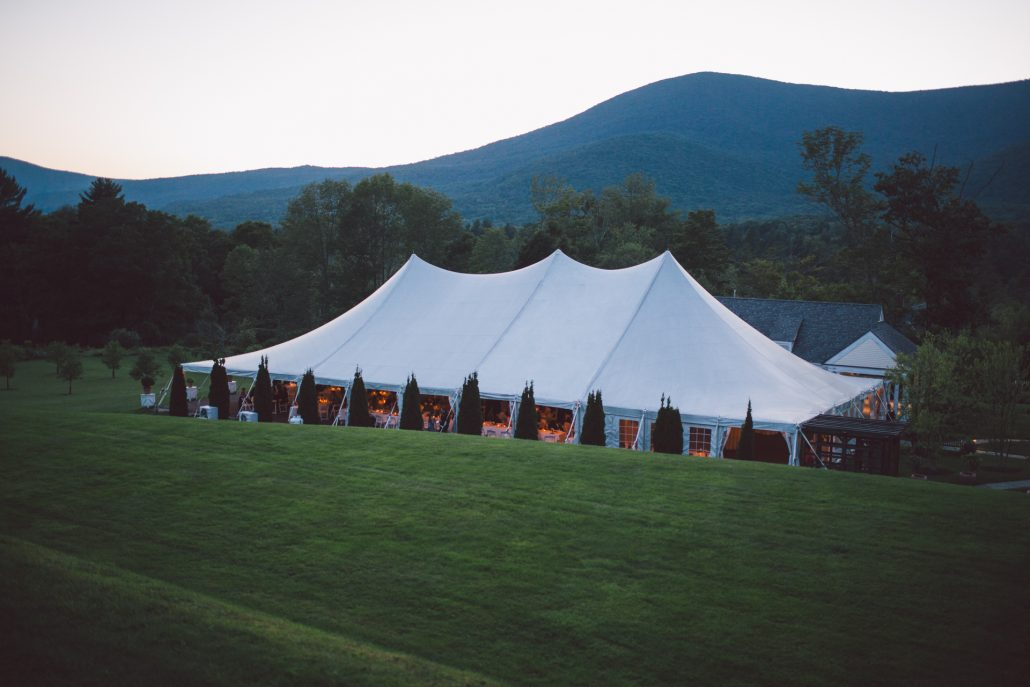 hildene event tent wedding reception