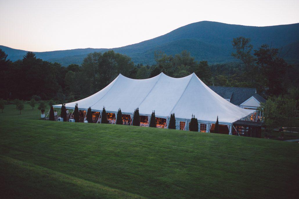 hildene event tent wedding reception