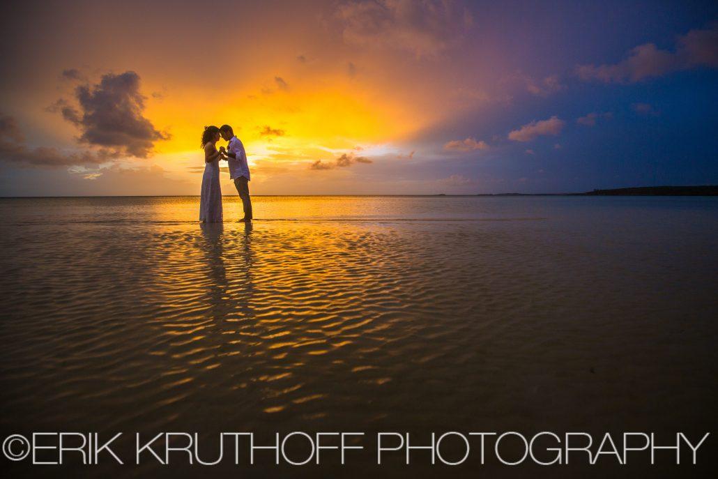 sunset bahamas destination wedding photo