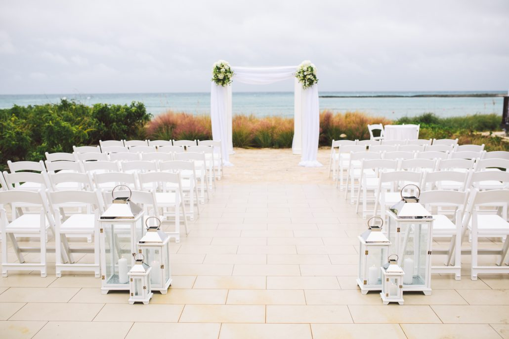 ceremony set up at Oceans edge Atlantis