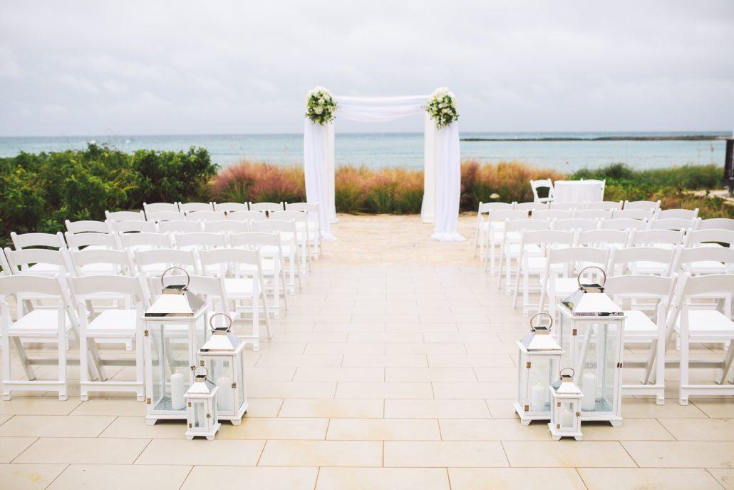 ceremony set up at Oceans edge Atlantis