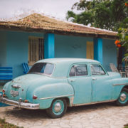 Old car in La Boca, Cuba