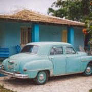 Old car in La Boca, Cuba