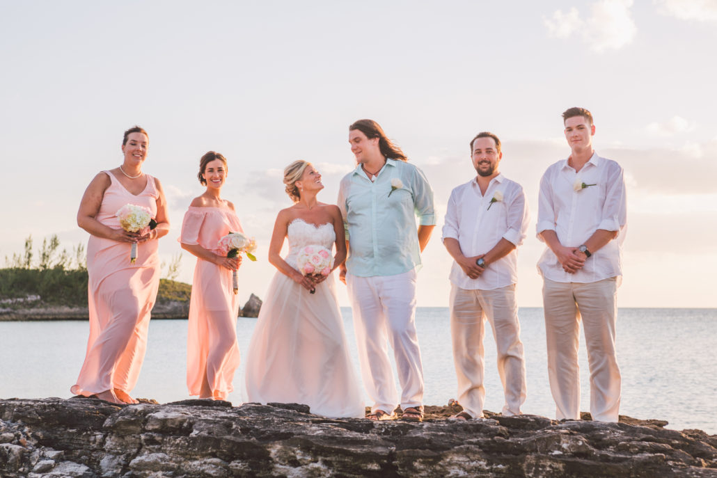 eleuthera beach wedding group