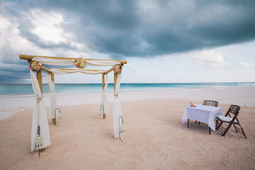 Pink Sands Beach Destination Wedding Bahamas