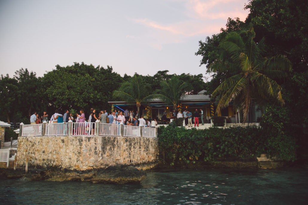 Aquapazza Harbour Island wedding welcome dinner