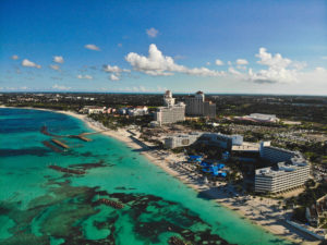 Baha Mar beach front and ocean