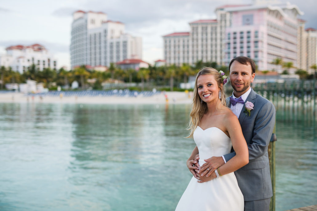 wedding couple at Baha Mar