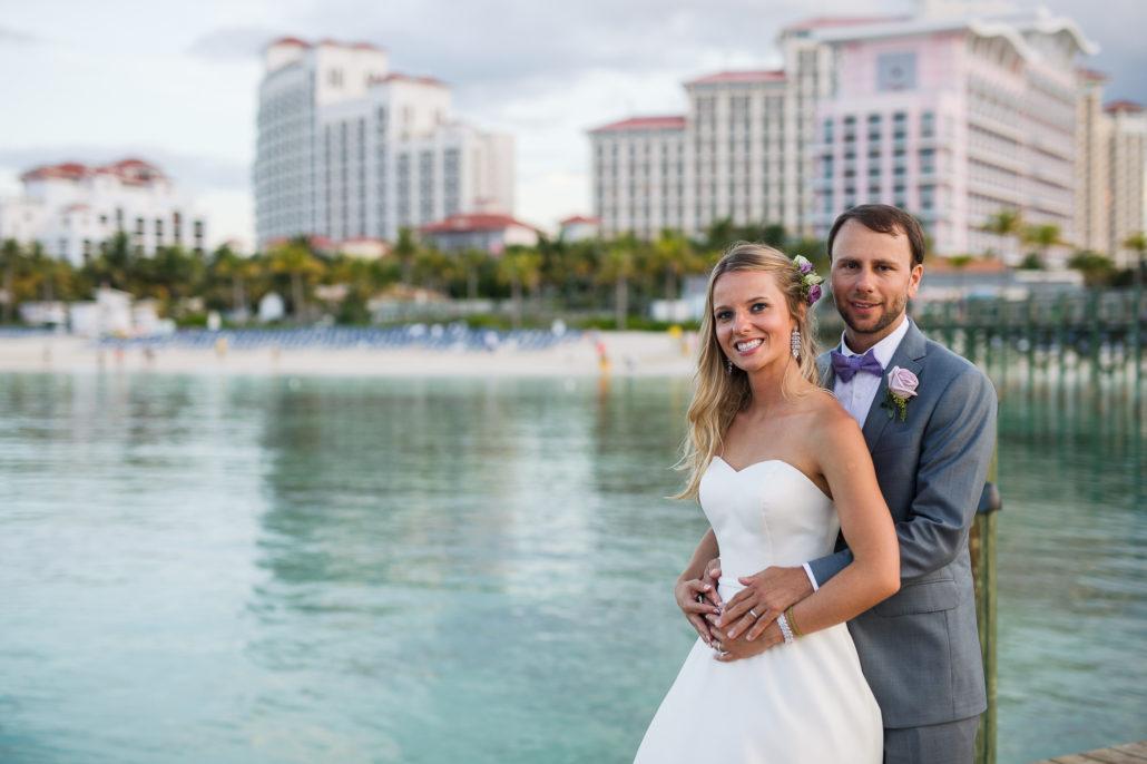 wedding couple at Baha Mar