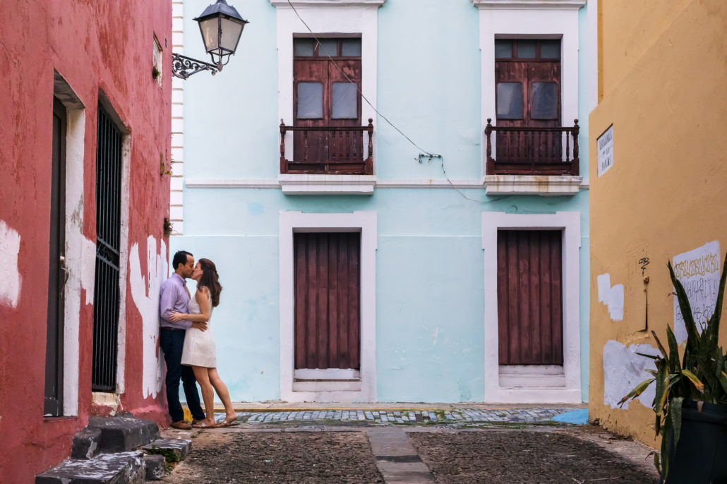 Old San Juan engagement portrait session