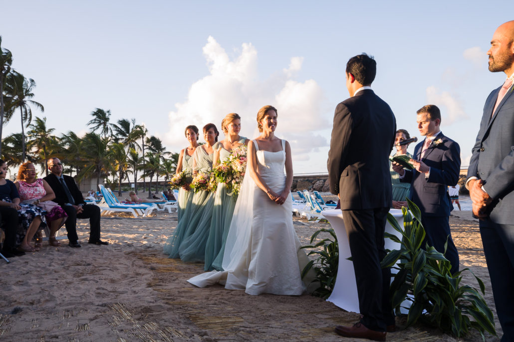 beach wedding at La Concha San Juan