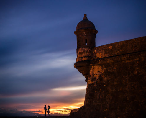 Old San Juan wedding portrait by Erik Kruthoff Photography