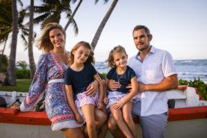 family portrait by Erik Kruthoff at Dorado Beach