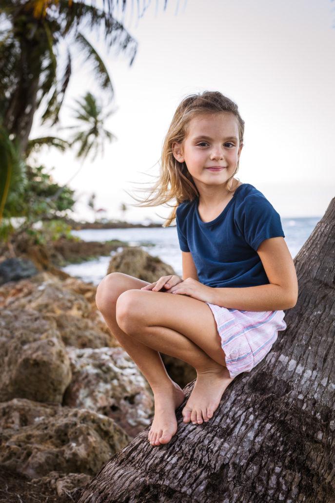Portrait by Erik Kruthoff of a little girl in Dorado Beach, Puerto Rico